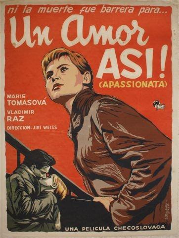 Un amor así -cartel de cine checo, 1959, 92 x 69 cm.
