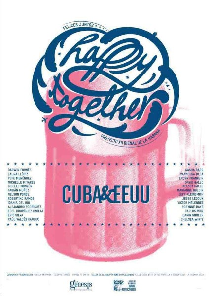Happy Together, Cuba & USA, exhibition poster by Eric Silva (Cuba)