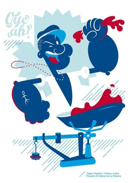 Popeye, by Giselle Monzon (Cuba)